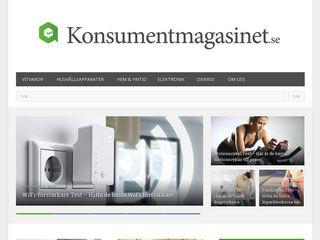 Earlier screenshot of konsumentmagasinet.se