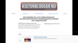 Earlier screenshot of kulturbloggar.nu