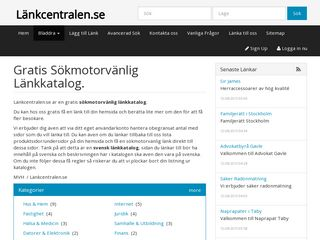 Earlier screenshot of lankcentralen.se