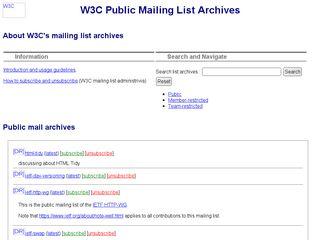 lists.w3.org