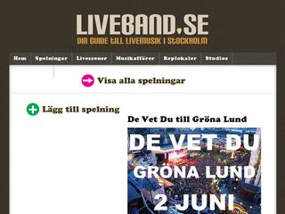 liveband.se