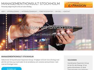 Earlier screenshot of managementkonsultstockholm.se