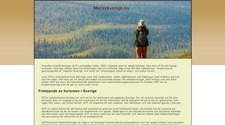 Earlier screenshot of meravsverige.nu