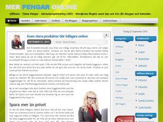 Earlier screenshot of merpengaronline.com