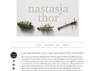 Earlier screenshot of nastasjathor.se