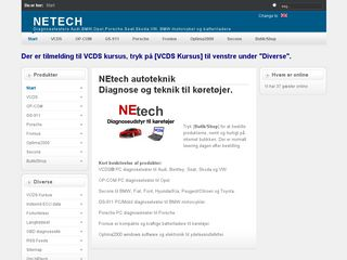 Earlier screenshot of netech.dk