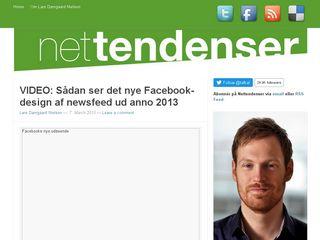 Earlier screenshot of nettendenser.dk