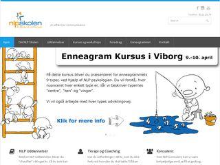 Earlier screenshot of nlpskolen.dk