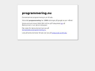 programmering.nu