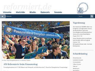 Preview of reformiert.de