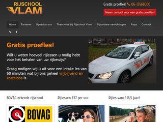 Earlier screenshot of rijschoolvlam.nl