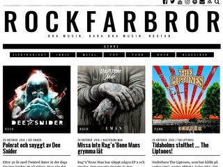 Earlier screenshot of rockfarbror.se
