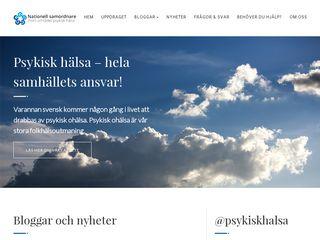 Earlier screenshot of samordnarepsykiskhalsa.se