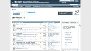 Earlier screenshot of seo-forum.se