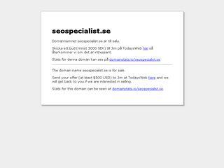 Earlier screenshot of seospecialist.se