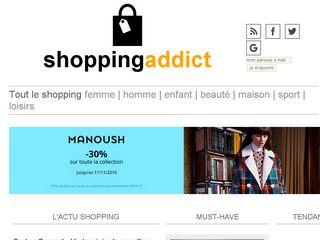 Earlier screenshot of shoppingaddict.fr