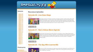 Earlier screenshot of simpsons-tv.fr