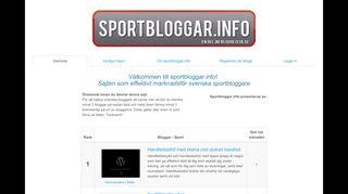 Earlier screenshot of sportbloggar.info