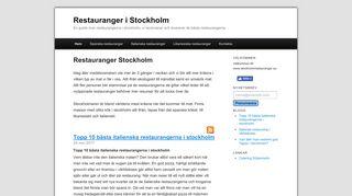 stockholmrestauranger.se