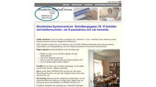 Earlier screenshot of stockholmsdyslexicentrum.se