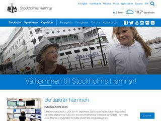 Preview of stockholmshamnar.se