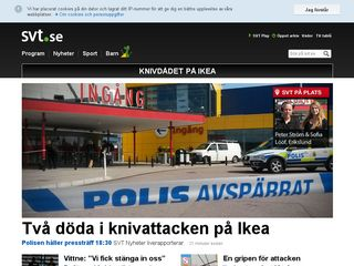 Earlier screenshot of svt.se