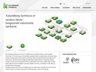 Earlier screenshot of symbiosis.dk