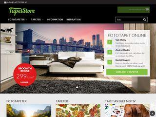 Earlier screenshot of tapetstore.se