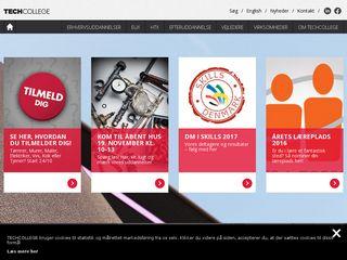 Earlier screenshot of techcollege.dk