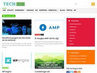 Earlier screenshot of techtag.se