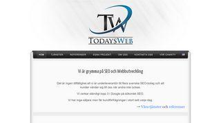 Earlier screenshot of todaysweb.se