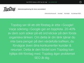 Earlier screenshot of topdog.nu