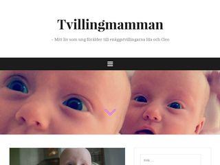 Earlier screenshot of tvillingmamman.babyhjalp.se