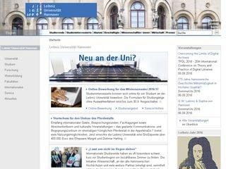 Earlier screenshot of uni-hannover.de