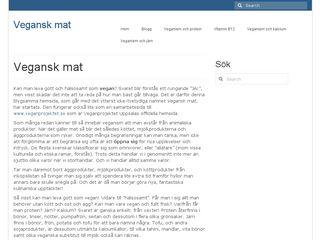 Earlier screenshot of veganskmat.se