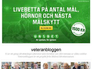 Earlier screenshot of veteranbloggen.blogg.se
