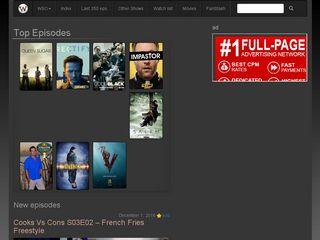 Earlier screenshot of watchseries-online.se