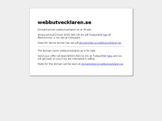 Earlier screenshot of webbutvecklaren.se