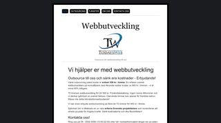 Earlier screenshot of webbutveckling.biz
