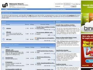 Earlier screenshot of wn.se