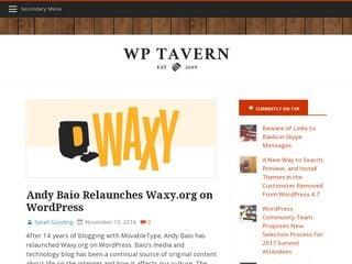 Earlier screenshot of wptavern.com