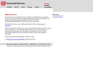 Preview of www-user.uni-bremen.de