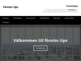 Earlier screenshot of fönster.tips