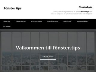 Earlier screenshot of fönster.tips
