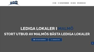 Earlier screenshot of ledigalokalermalmö.net