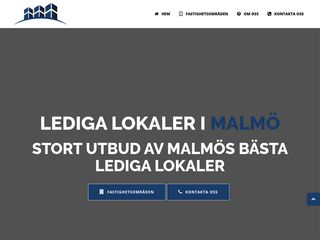 Earlier screenshot of ledigalokalermalmö.net