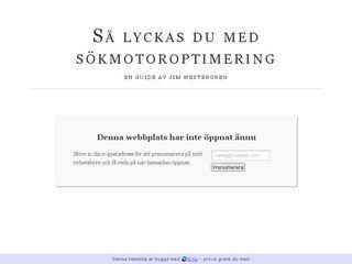 Earlier screenshot of sökmotoroptimering.nu