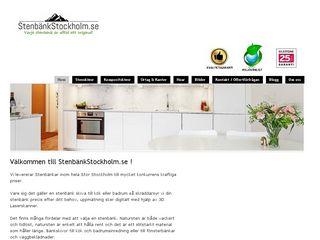 Earlier screenshot of stenbänkstockholm.se