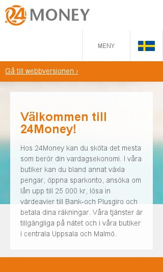 Mobile preview of 24money.se