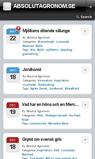 Mobile preview of absolutagronom.se